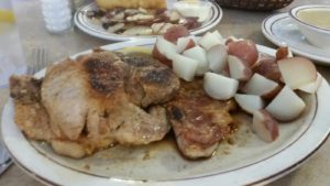 Andary's Pork Chop's with Apple Sauce