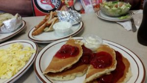 Strawberry Pancakes at Leo's Coney Island