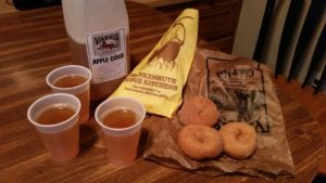 Cider and Donuts from Yates Cider Mill