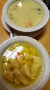 Dill Pickle & Chicken and Spaetzle Soups