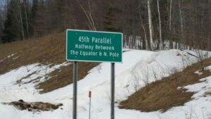 Atlanta, Michigan - 45th Parallel Marker